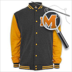 College Jacken mit Druck und Stickerei