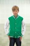 kelly green, white