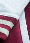 Detailaufnahme; burgundy, heather grey