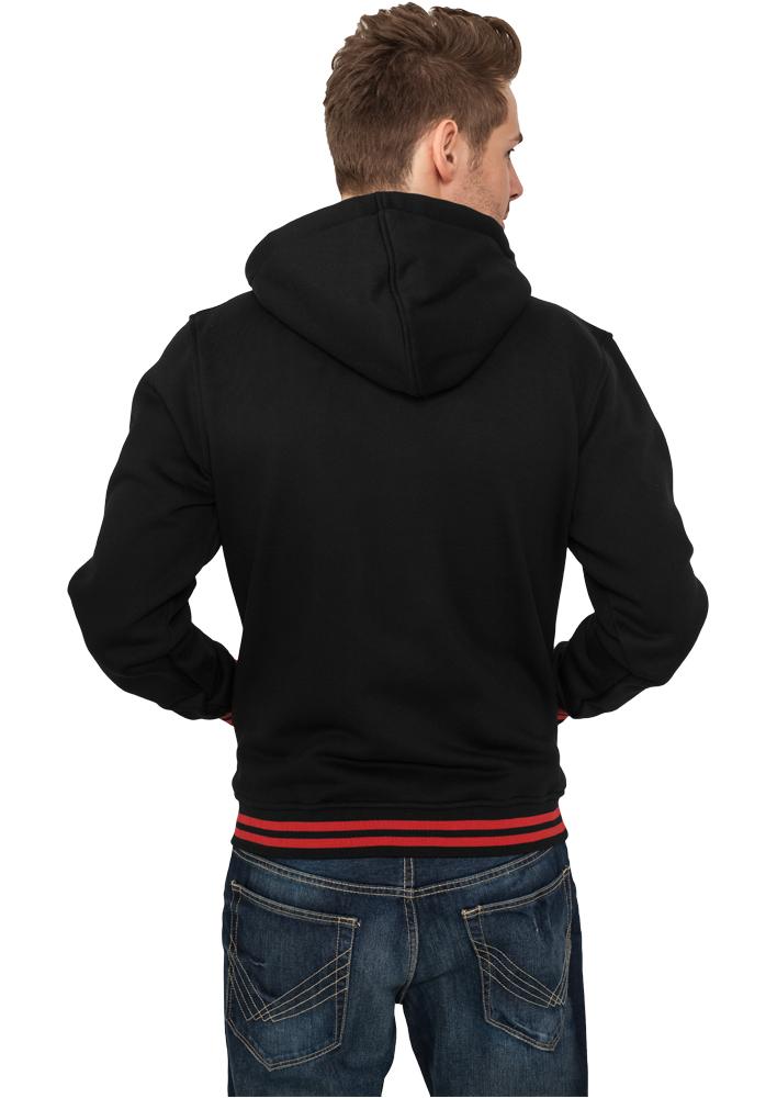 einfarbige College Sweat Jacken mit Kapuze fcdbd2543b