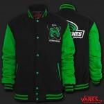 black / kelly green